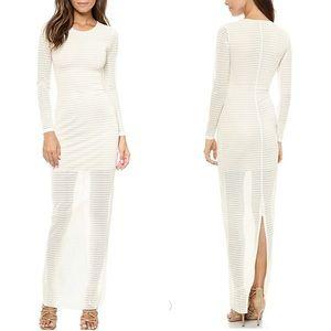 AQ/AQ White Bang Maxi Dress Sz 10 ::V24